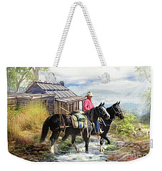 Stockman Of The Snowy Weekender Tote Bag