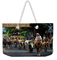 Stockyards Cattle Drive Weekender Tote Bag