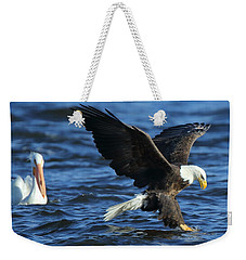 Weekender Tote Bag featuring the photograph Stolen Dinner by Coby Cooper