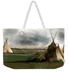 Weekender Tote Bag featuring the painting Stolen Spirit  by Iconic Images Art Gallery David Pucciarelli
