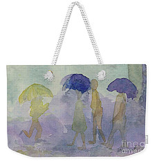Stomping In The Rain Weekender Tote Bag