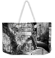 Stone Arch In The Ramble Of Central Park - Bw Weekender Tote Bag