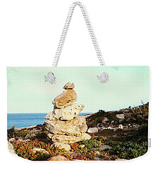 Weekender Tote Bag featuring the photograph Stone Balance by Lucia Sirna