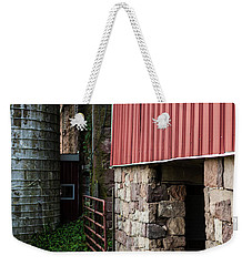 Stone Barn With Milk Can Weekender Tote Bag