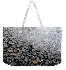 Weekender Tote Bag featuring the photograph Menorca Pebble Beach  by Pedro Cardona