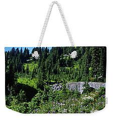 Stone Bridge And Wildflowers Weekender Tote Bag