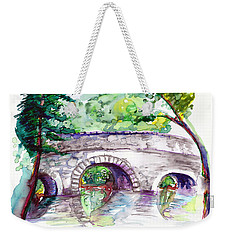 Stone Bridge In Early Autumn Weekender Tote Bag by Melinda Dare Benfield