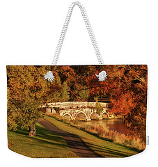 Weekender Tote Bag featuring the photograph Stone Bridge On The Rye Water - Kildare, Ireland by Barry O Carroll
