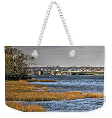 Weekender Tote Bag featuring the photograph Stone Bridge At Mills Gut Colt State Park by Tom Prendergast