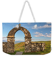Stone Church In Autumn Weekender Tote Bag