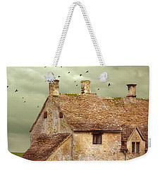 Stone Cottage And Stormy Sky Weekender Tote Bag by Jill Battaglia
