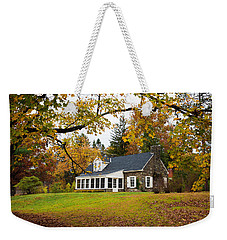Stone Cottage In The Fall Weekender Tote Bag