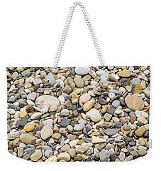 Weekender Tote Bag featuring the photograph Stone Pebbles Patterns by John Williams