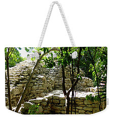 Weekender Tote Bag featuring the photograph Stone Steps In The Jungle by Francesca Mackenney