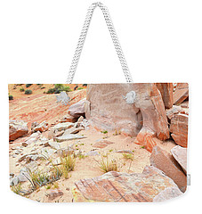Weekender Tote Bag featuring the photograph Stone Tablet In Valley Of Fire by Ray Mathis