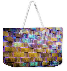 Weekender Tote Bag featuring the photograph Brick Wall In Abstract 499 by D Davila