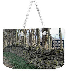 Stone Wall Weekender Tote Bag by Linda Mesibov