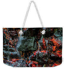 Stone, Water And Color Weekender Tote Bag by Ken Frischkorn
