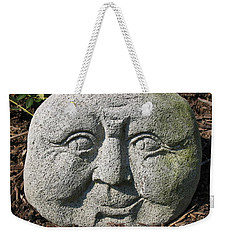 Weekender Tote Bag featuring the photograph Stoneface by Charles Kraus