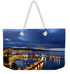 Stonehaven Harbour At Night Weekender Tote Bag