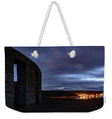 Weekender Tote Bag featuring the photograph Stonehenge And The Columbia by Cat Connor