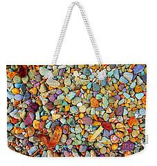 Stones And Barks On Beach Weekender Tote Bag