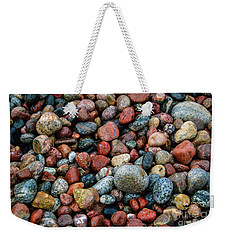 Weekender Tote Bag featuring the photograph Stones Of Lake Superior by Rachel Cohen