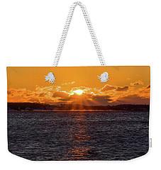 Stonington Point Sunrise Weekender Tote Bag
