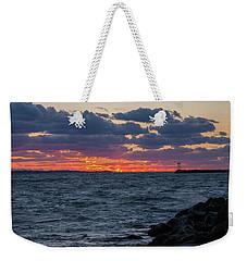 Stonington Point Sunset Weekender Tote Bag
