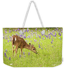 Stop And Smell The Bluebonnets. Weekender Tote Bag