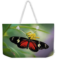 Butterfly, Stop And Smell The Flowers Weekender Tote Bag