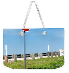 Stop For The Blue Bonnets Weekender Tote Bag by Joan Bertucci