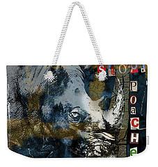 Stop Rhino Poachers Wildlife Conservation Art Weekender Tote Bag