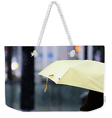 Weekender Tote Bag featuring the photograph Stop To Thoughts  by Empty Wall