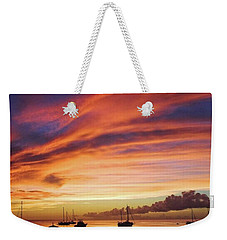 Store Bay, Tobago At Sunset #view Weekender Tote Bag