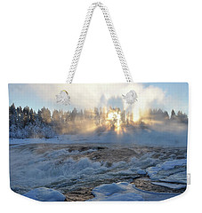 Storforsen, Biggest Waterfall In Sweden Weekender Tote Bag