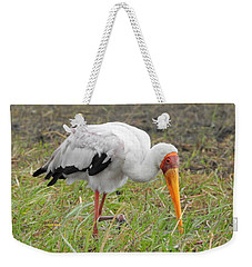 Weekender Tote Bag featuring the photograph Stork by Betty-Anne McDonald