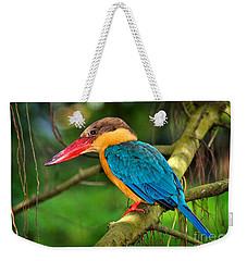 Stork-billed Kingfisher Weekender Tote Bag