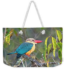 Stork-billed Kingfisher Weekender Tote Bag by Pravine Chester