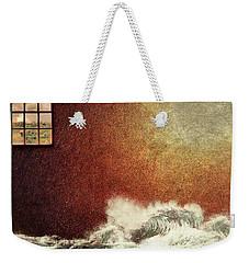 Storm Against The Walls Weekender Tote Bag
