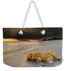 Storm And Sea Shell On Sanibel Weekender Tote Bag
