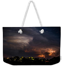 Storm And Star Trails 9 Weekender Tote Bag