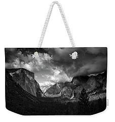 Storm Arrives In The Yosemite Valley Weekender Tote Bag