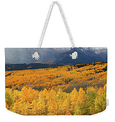 Storm At Ohio Pass During Autumn Weekender Tote Bag by Jetson Nguyen