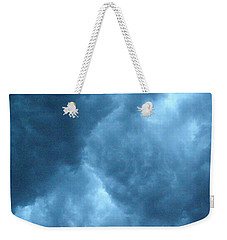 Weekender Tote Bag featuring the photograph Storm Clouds by Angie Rea