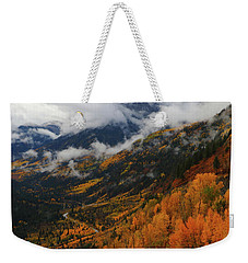 Storm Clouds Over Mcclure Pass During Autumn Weekender Tote Bag
