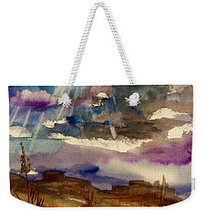 Storm Clouds Over The Desert Weekender Tote Bag