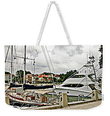 Storm Clouds Over The Harbor Weekender Tote Bag
