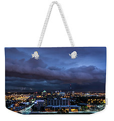 Weekender Tote Bag featuring the photograph Storm Front by Andrea Silies