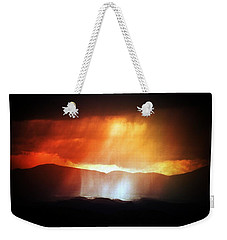 Storm Glow Night Over Santa Fe Mountains Weekender Tote Bag by Joseph Frank Baraba